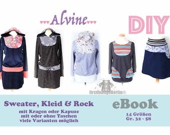 Alvine *** eBook Sweater, Rock, Kleid in 14 Größen 32-58 Schnittmuster & Nähanleitung - Bildernähanleitung Ladies DIY firstloungeberlin.com