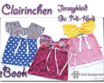 Clairinchen ***Kinder Kleid Tunika EBOOK pattern in 16 Größen 74 bis 164 Nähanleitung mit Schnittmuster made with Love von firstloungeberlin
