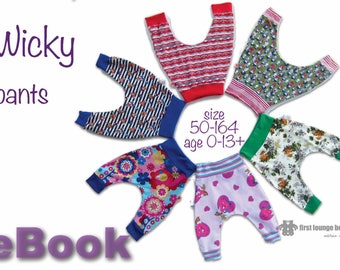 Us-Wicky ** ebook file Jersey Pants bloomers for Babys, kids and childs age 0-13+ years pattern sewing instruction firstloungeberlin
