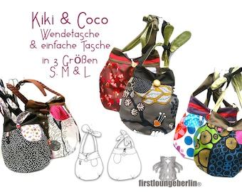 Kiki &Coco Umhängetasche Beutel Wendetasche Tasche Shopper 2 Kombi E-Books nähen Schnittmuster Schnürbeutel Schultertasche firstloungeberlin