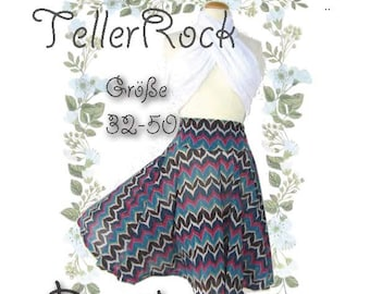 Mary *** ebook Rock Tellerrock Größe XS-XXL Nähanleitung mit Schnittmuster - Nähen Quick and Easy - Design von firstloungeberlin.com