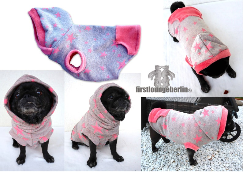 MOPS & CO. Dog sweater sweater with sewing pattern in 10 sizes image 0