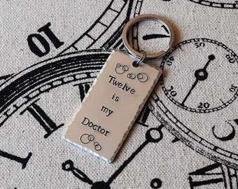 Pick Your Doctor - Doctor Who Inspired Aluminum Key Chain Fob - Hand Stamped