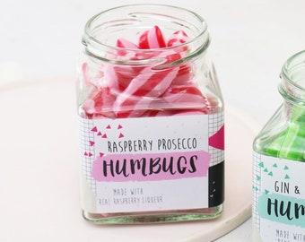 Alcoholic Raspberry Prosecco Sweets - Prosecco Gift - Wine Lover - Bubbly - Bridesmaid Gift - Foodie Gift - Mothers Day - Stocking Filler