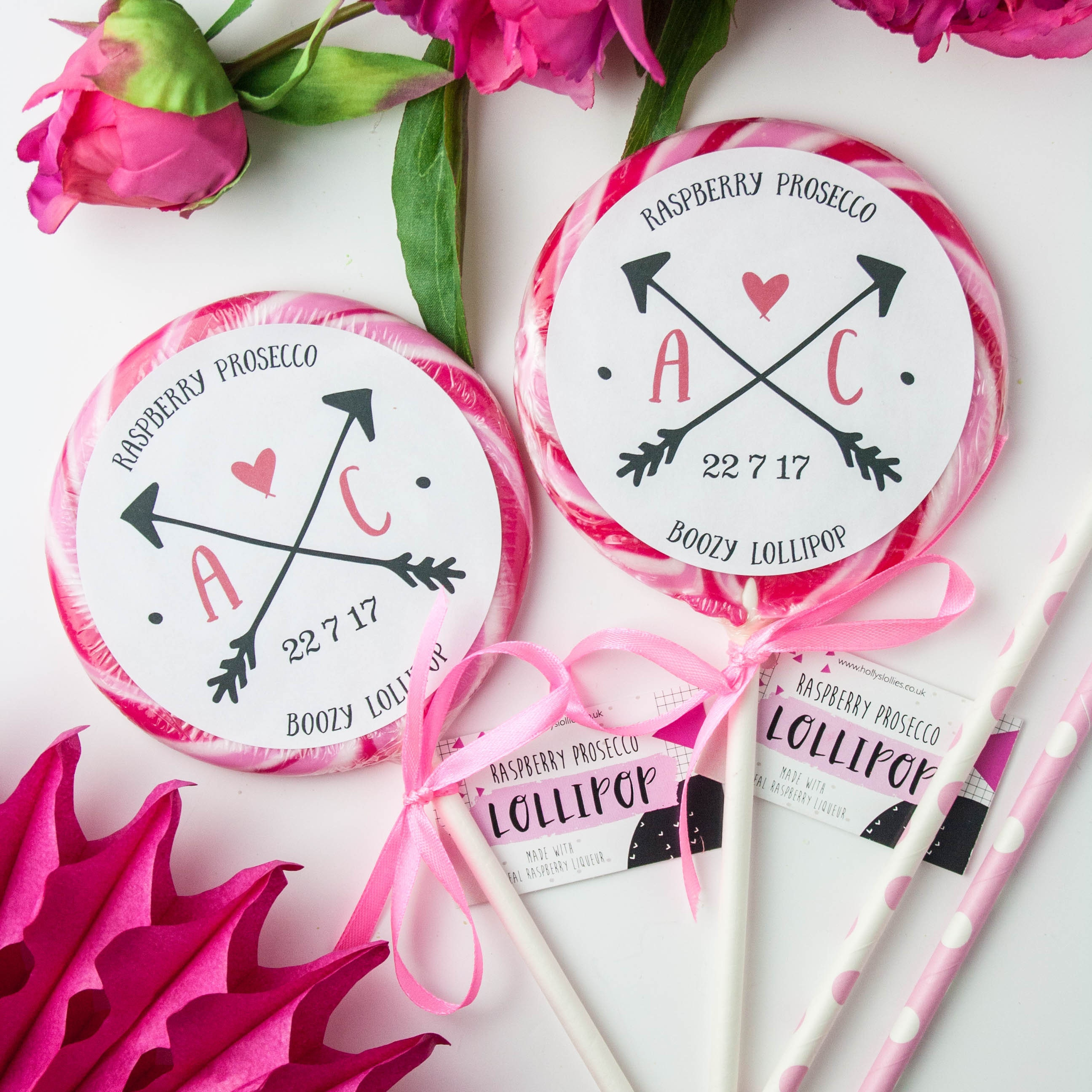 Personalised Alcoholic Wedding Favour Giant Lollipops