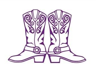 Cowboy Boots Svg Etsy