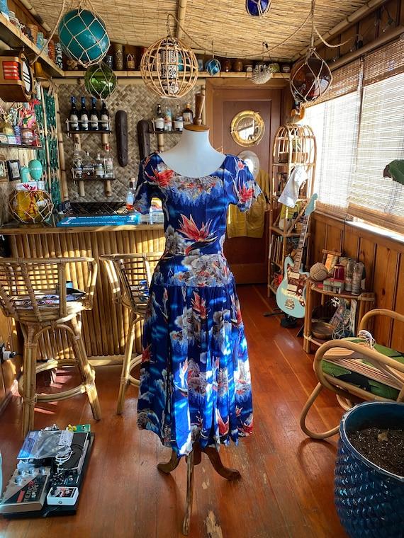 1950s Vintage Tiki Hawaiian Dress