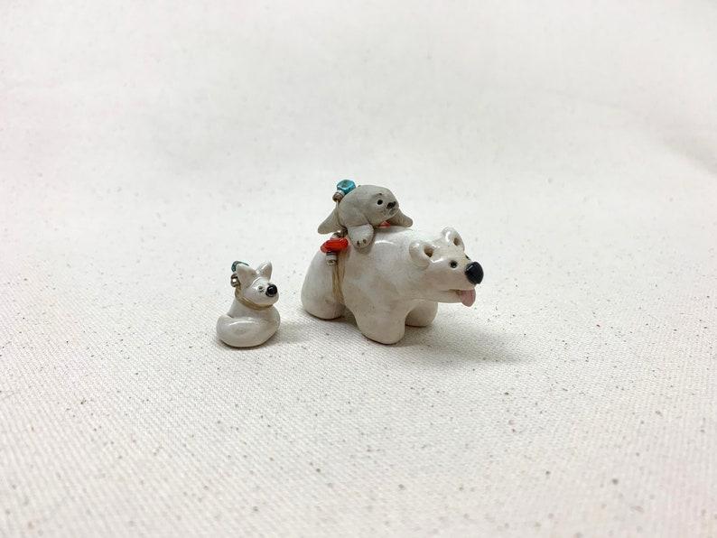 Polar Bear, Seal and Arctic Fox Spirit Animal Totem