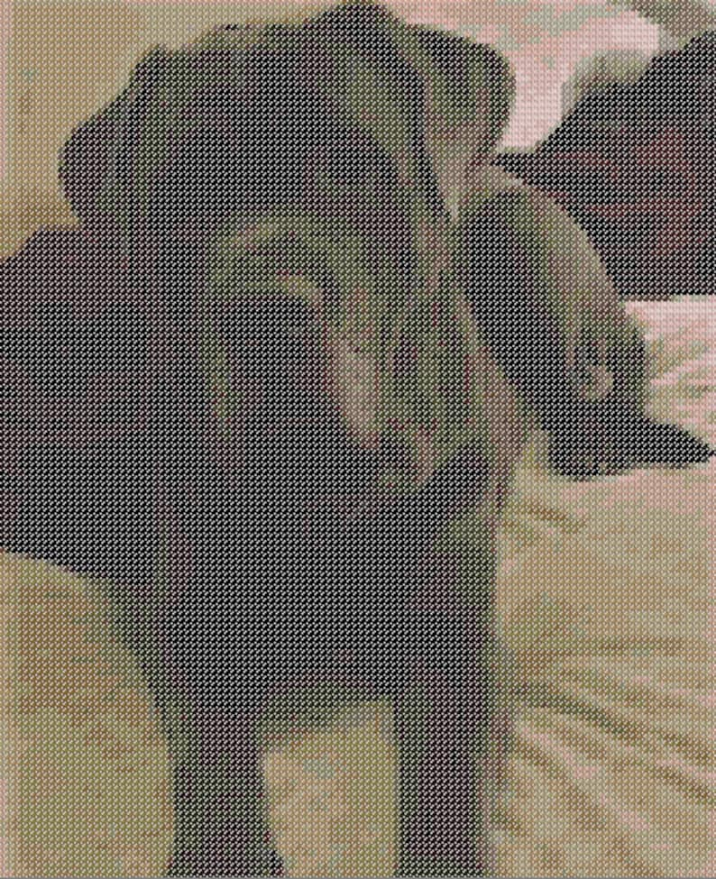 Gus - Cross Stitch Pattern - Animal Rescue - Neapolitan Mastiff Dog
