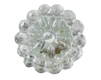 Set of 2 - Glass knobs - clear round