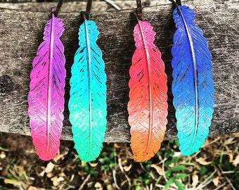 Ombre Feather Headband/Feather Headpiece/Feather Jewelry/Feather Hair Piece/Feather Hair Accessories/Boho Headband/Womens Headband/Festival