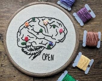 """Brain 6"""" Hoop Embroidery"""