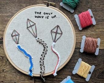 3D Flying Kite Hoop Embroidery