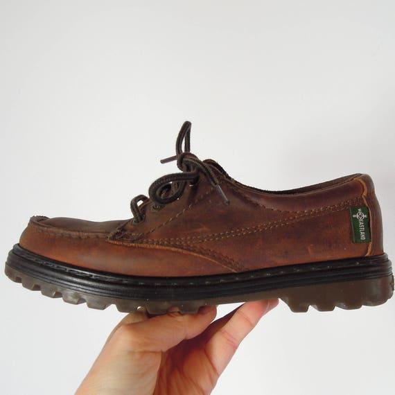 b5e5a98e435 Edouard Oxford Moc Toe lacets en cuir chaussures bateau