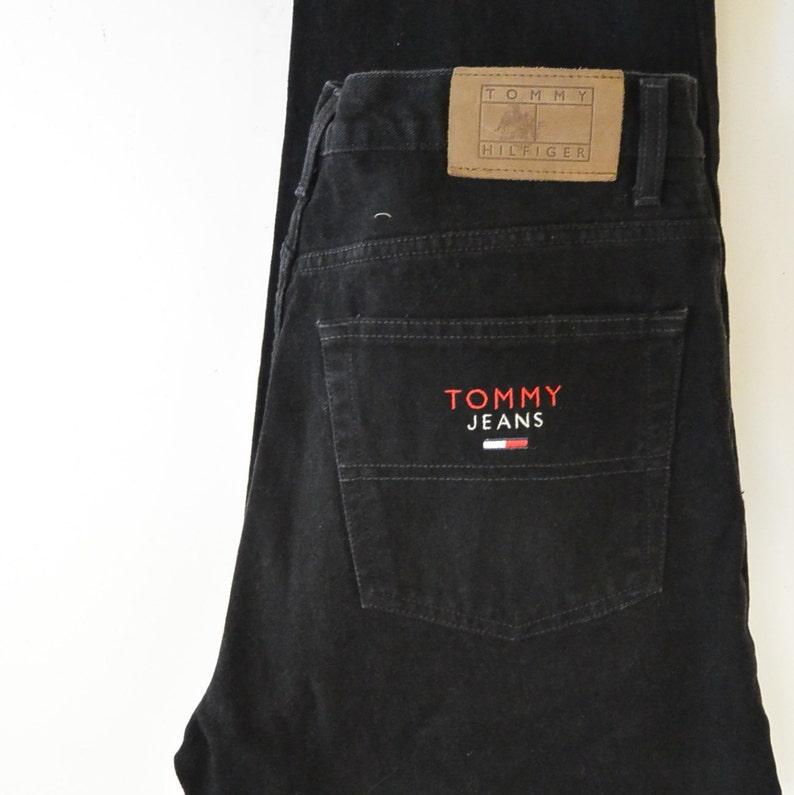 1fff284a Tommy Jeans Size 34/30 90's Era Black Tommy Hilfiger Jeans   Etsy