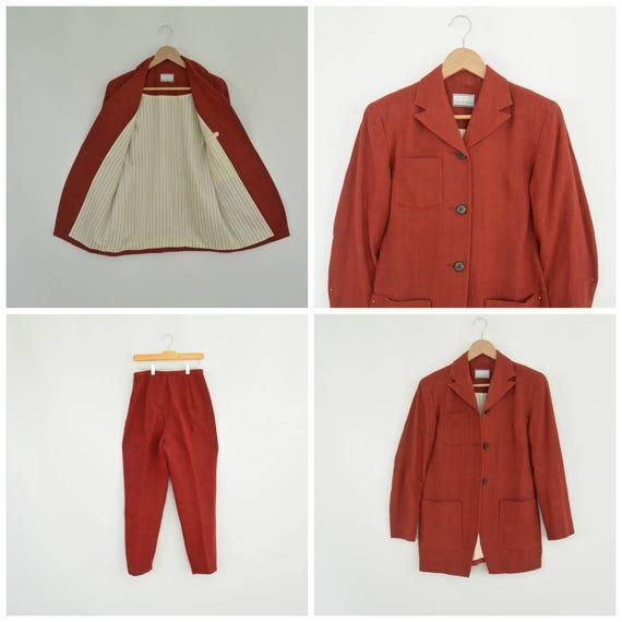 Lat Naylor Think Tank Linen Pant Suit High End De… - image 3