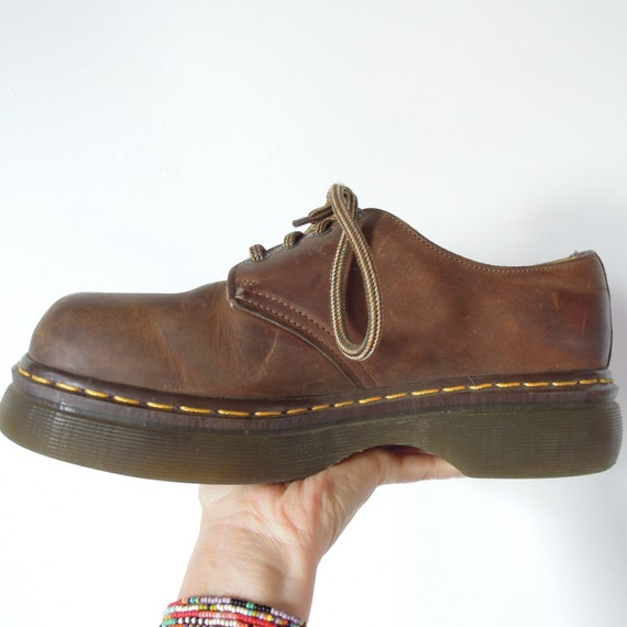 latest style of 2019 moderate price biggest discount Dr. Martens Original Made in England Size UK 8 US Men's 9 Women's US 10  Brown Chunky Squarer Toe Docs Dr. Martens