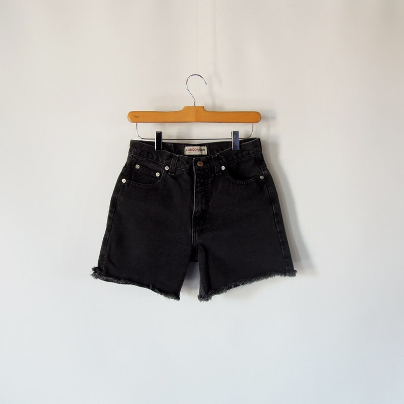 2f0fa1643a8 Frayed denim Shorts 90's era high waist/rise Women's | Etsy