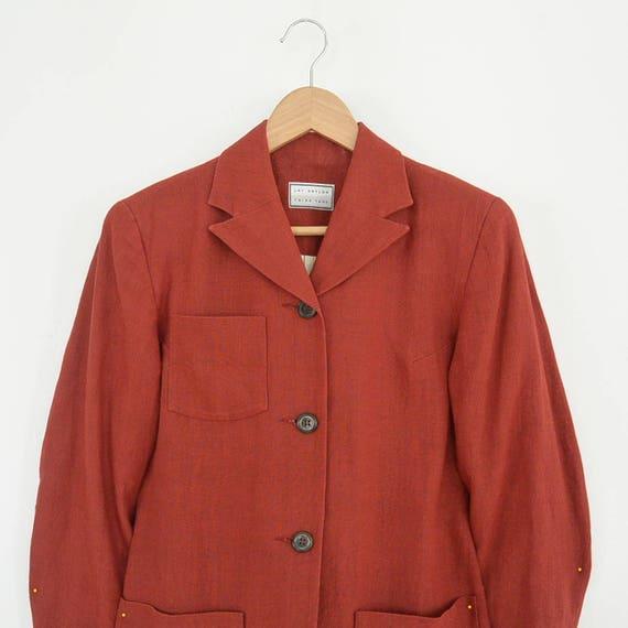Lat Naylor Think Tank Linen Pant Suit High End De… - image 7