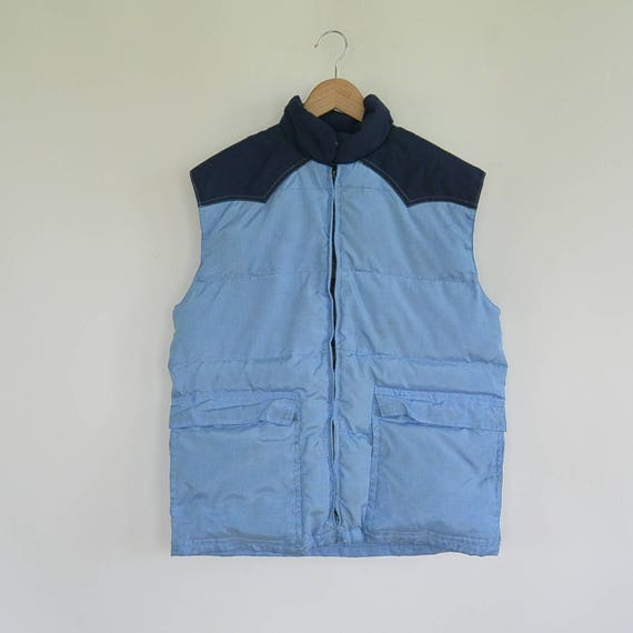 Frostline Kit Down Ski Vest 1980's Era Two Toned M