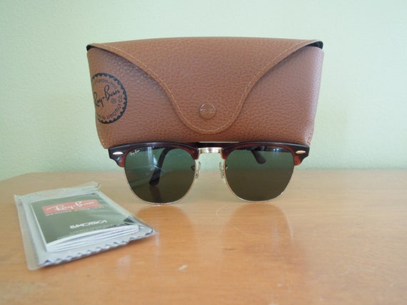 ec61243dc60 ... coupon vintage ray ban clubmaster sunglasses bausch lomb etsy a7851  c8c18