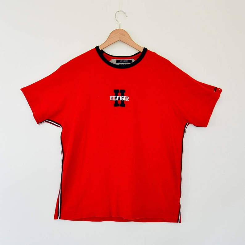 14c401dc4 Tommy Hilfiger Waffle Knit T-Shirt Short Sleeve Hilfiger Spell | Etsy