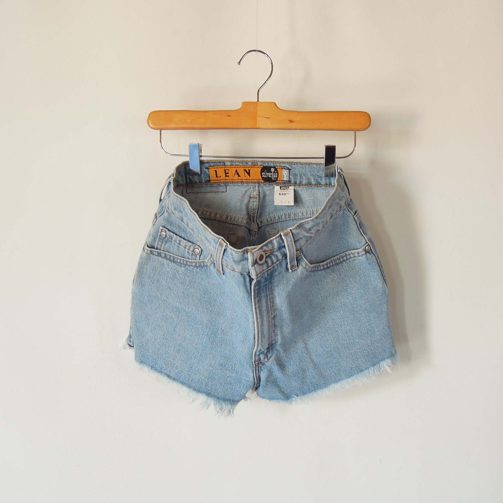 861b4d90 Frayed Denim Levi's Shorts High Waisted 90' era   Etsy