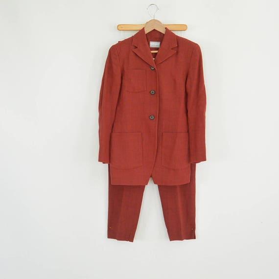 Lat Naylor Think Tank Linen Pant Suit High End De… - image 2