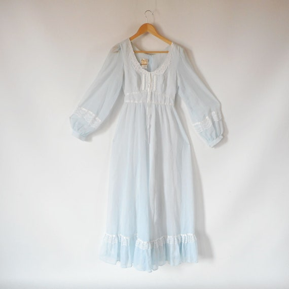 Gunne Sax Dress 1970s Prairie Dress Maxi Dress She