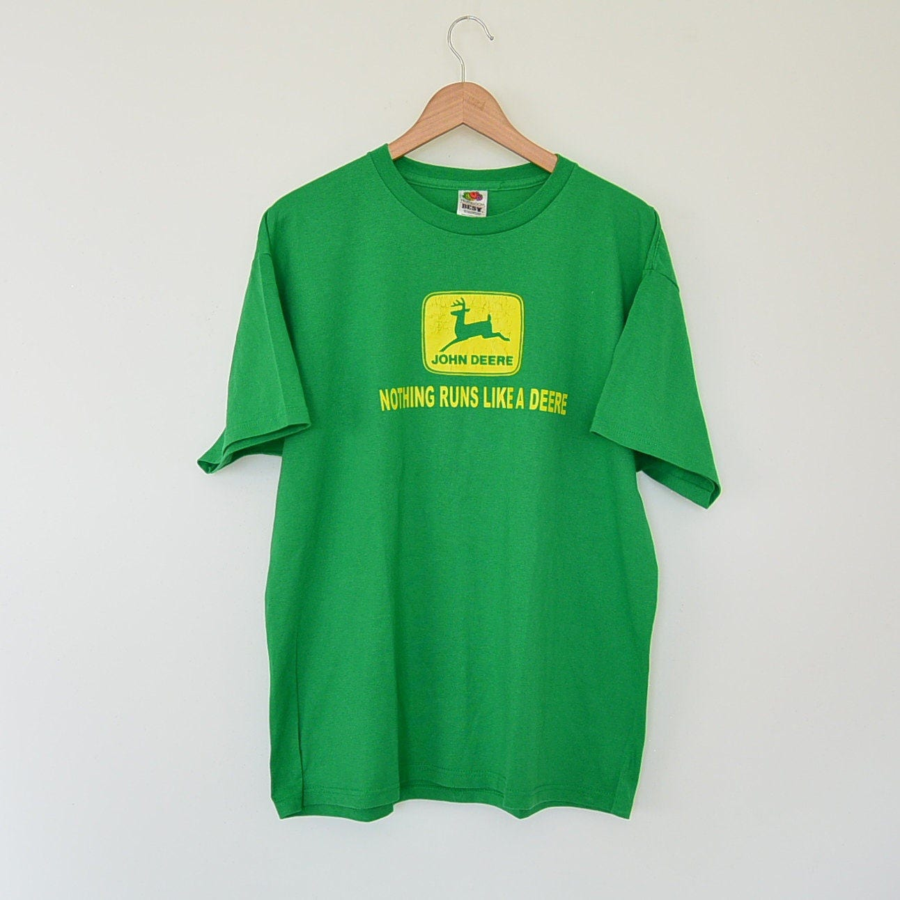 John Deere Vintage Tee Shirt Nothing Runs Like A Deere Spell Etsy