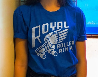 Royal Roller Rink Tee / 70s t shirt / roller derby shirt / roller skate shirt