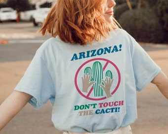 7f1f91f97 Don't Touch the Cacti Tee / womens graphic tees / 70s retro vintage style  western t shirt / arizona southwest souvenir shirt