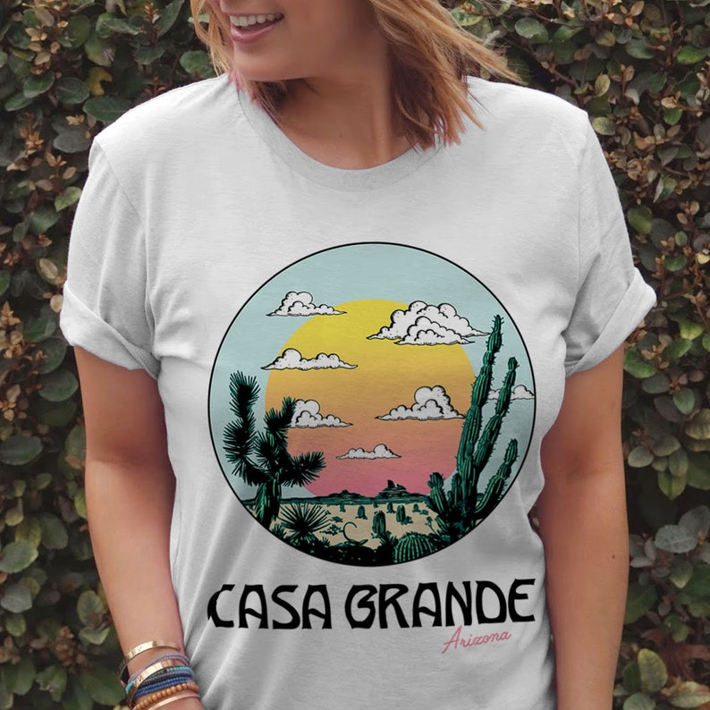 3e5c097fe Casa Grande Tee / womens graphic tees / vintage style 70s t | Etsy