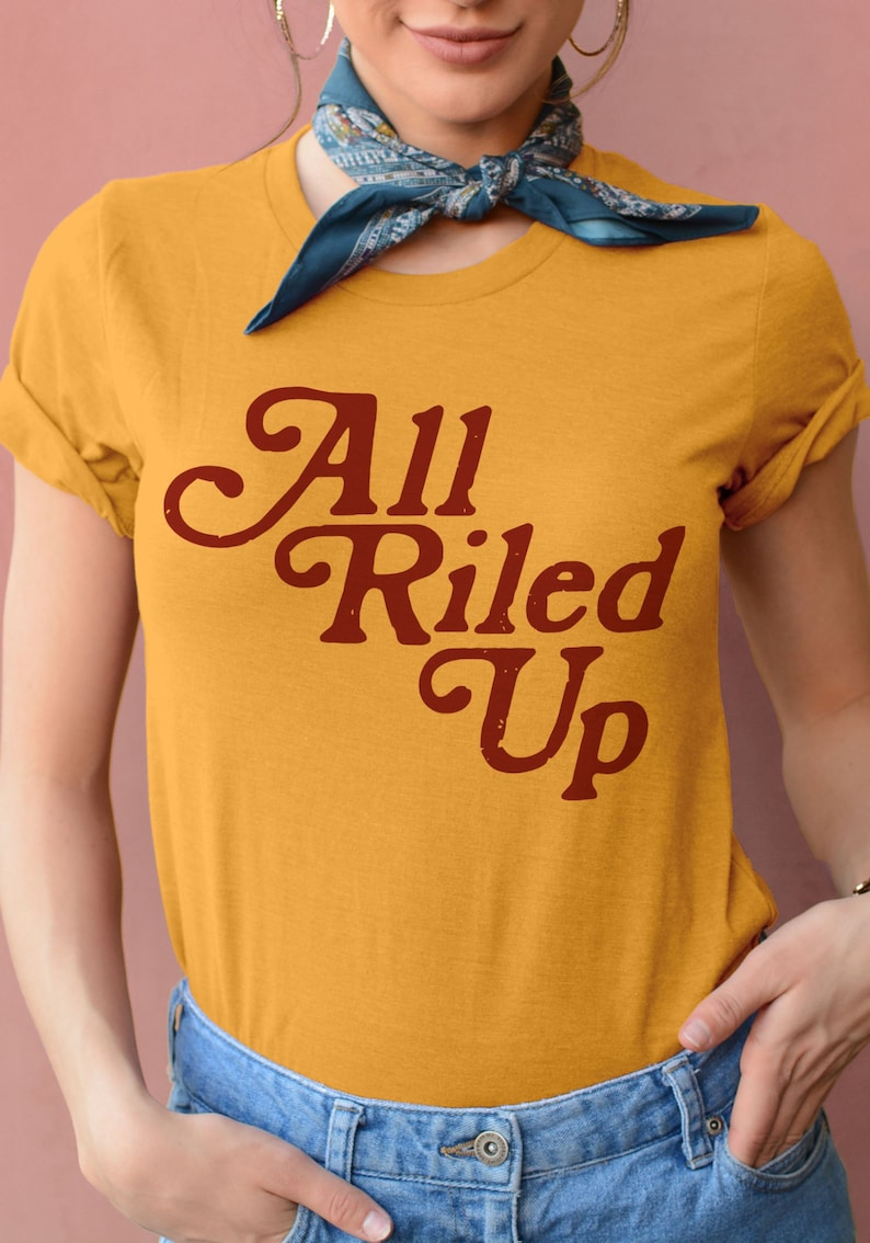 dbb7a40e6 All Riled Up Tee / womens graphic tees / 70s retro vintage | Etsy