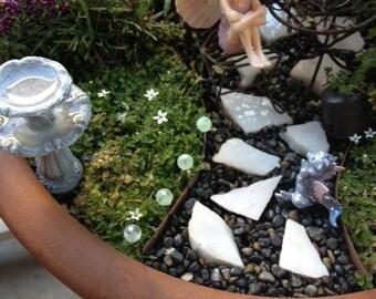 10 piece set Glow in the Dark Path Light Miniature Fairy Garden doll house