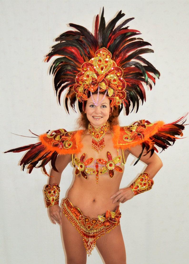 98edf311c6e Samba Braziliaanse OrangeRed Rio carnaval SAMBA dans kostuum | Etsy