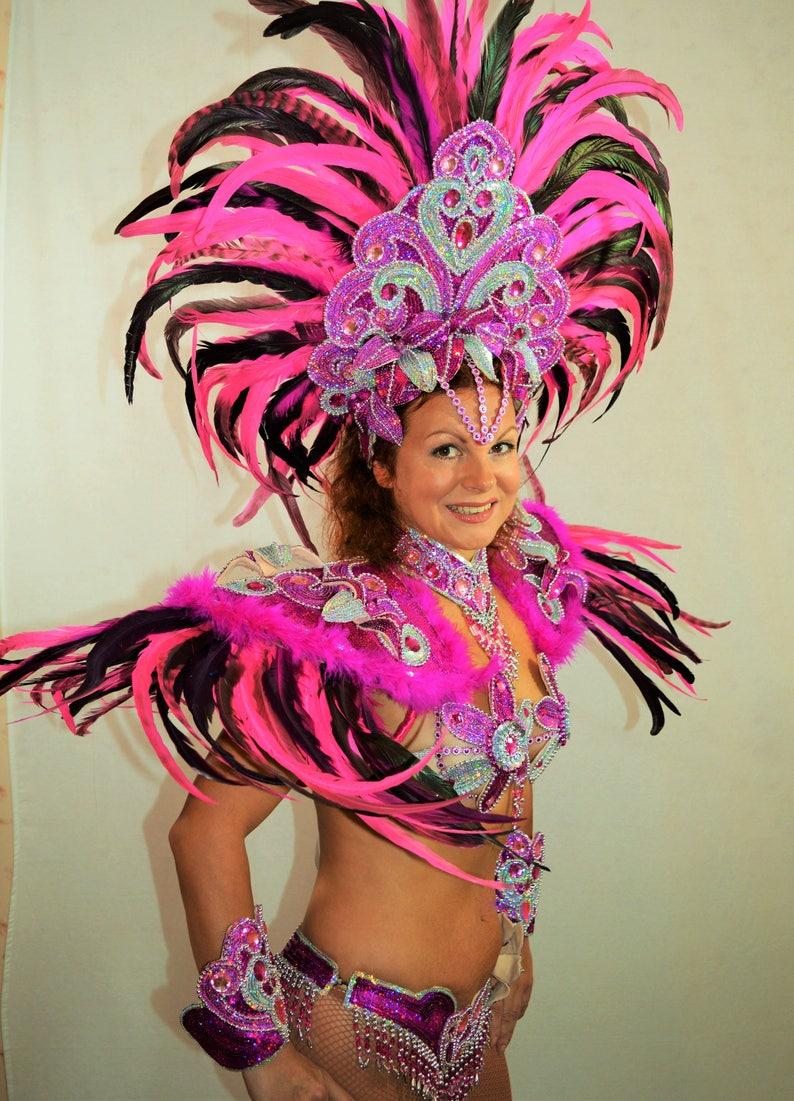 92c5e8056df Samba Braziliaanse dubbele roze Rio carnaval SAMBA dans | Etsy