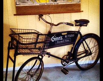 """Vintage Original Raleigh """"Low Gravity"""" Delivery Bicycle"""