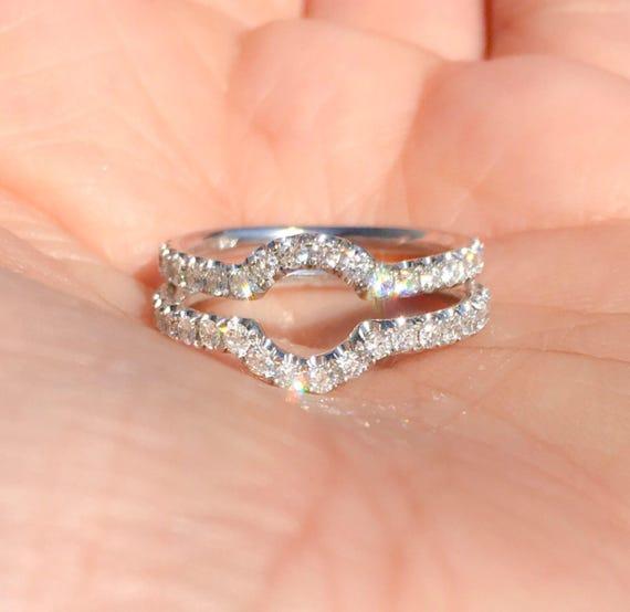 Prism Jewel 0.36 Carat Natural Brown /& White Diamond Cluster Ring
