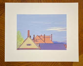 Archival print of Fort Yellowstone Roofs