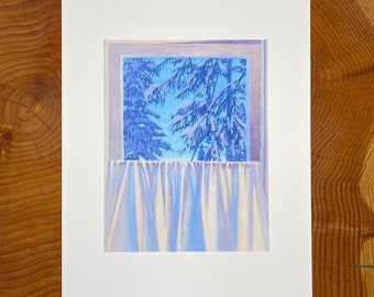 """Archival print of """"Curated View."""""""