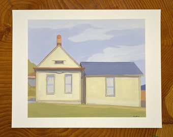 Archival print of A house Teddy Roosevelt stood in