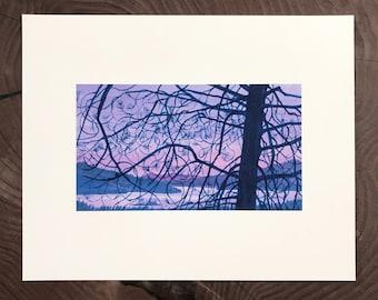 Archival print of Whiskeytown Lake, Purple