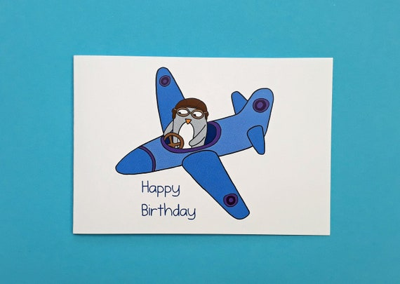 GIFT CARD AEROPLANE NOVELTY BLANK GREETING CARD BIRTHDAY