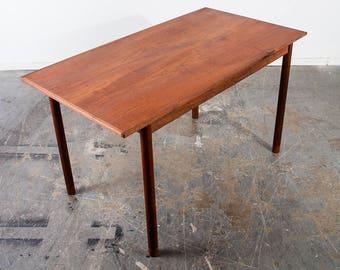Mid Century Danish Modern Table Dining Writing Hans Olsen ...