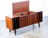 Mid Century Modern Stereo Console Record Player Zenith Serviced Hifi Radio Wood
