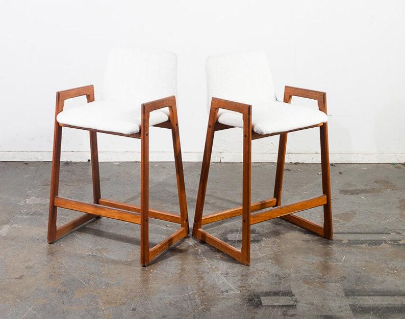 Metà secolo danese moderno bar sgabelli set sedili coppia etsy