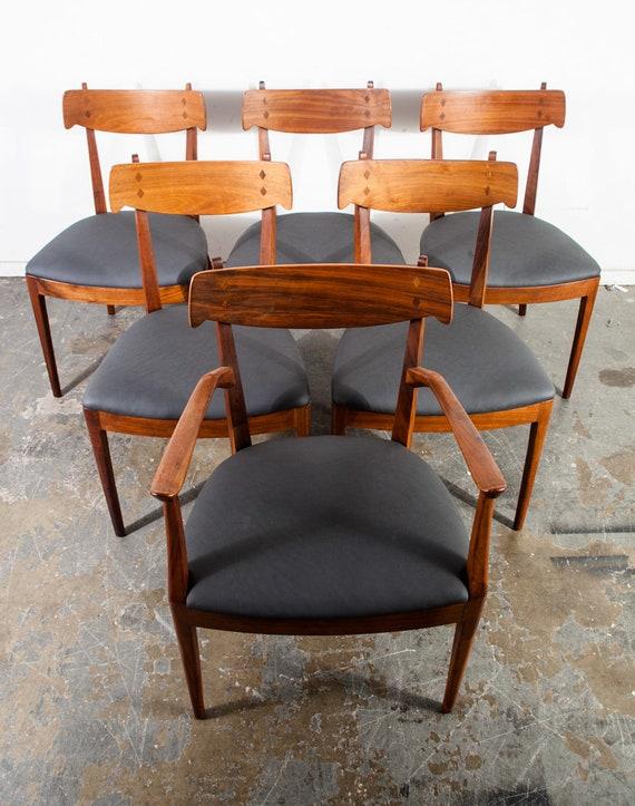 Mid Century Modern Dining Chairs 6 Drexel Declaration Kipp Etsy