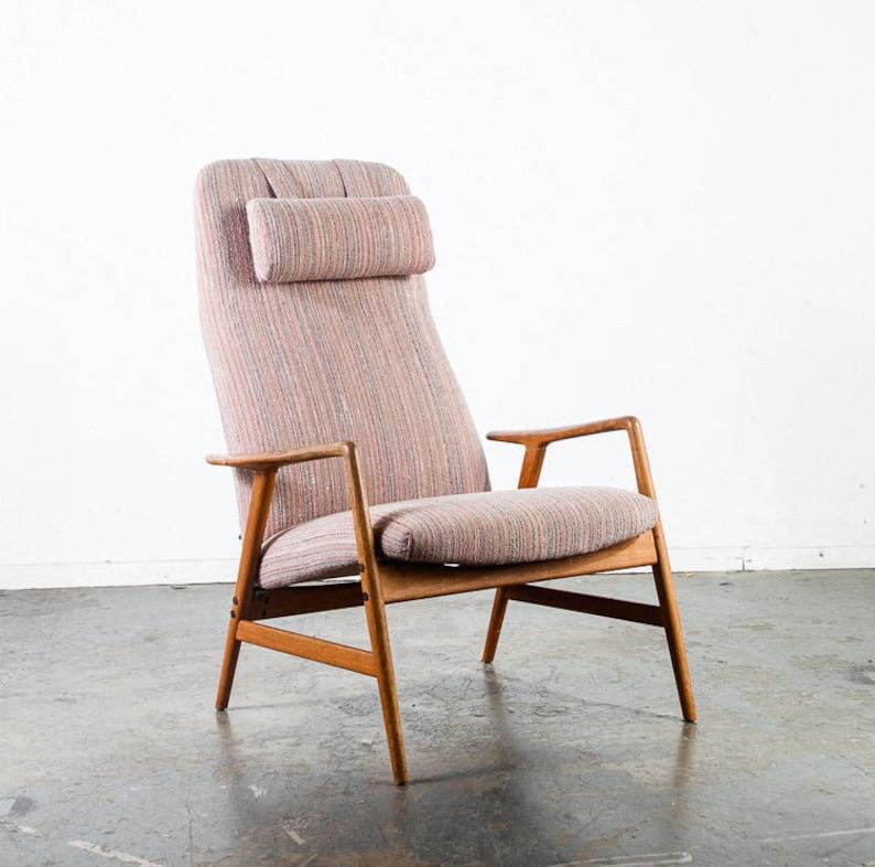 Mid Century Modern Lounge Chairs Black Swedish Cbi Björn Dahlström Pair Two Mid-century Modernism Furniture