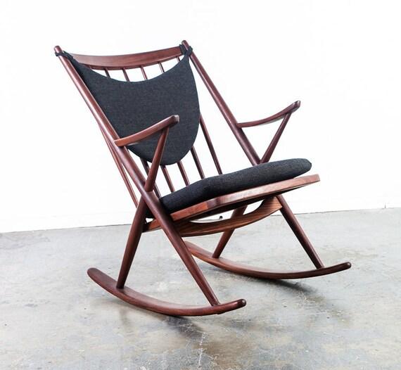 Mid Century Danish Modern Rocking Chair Frank Reenskaug Bramin | Etsy